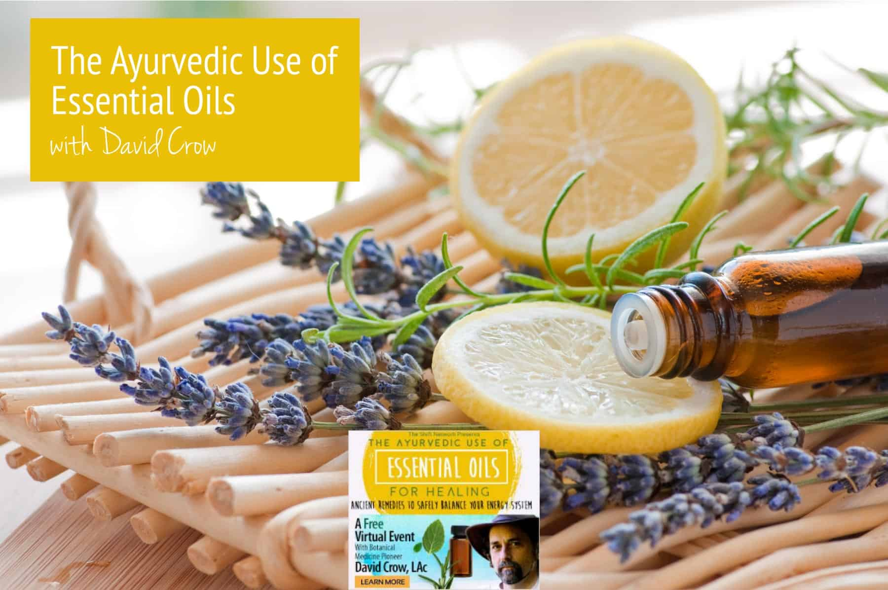 The Ayurvedic Use of Essential Oils Event with David Crow
