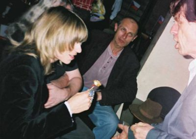 with Pavel Zajicek (DG307) and Mick Jagger