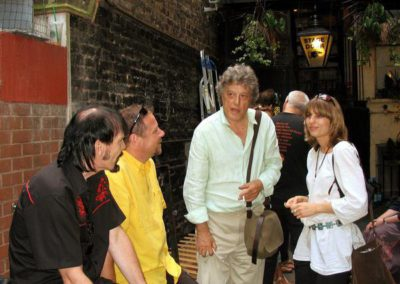 with Phil Shoenfelt, Pavel Cingl and Tom Stoppard after his play 'Rock'n'Roll'