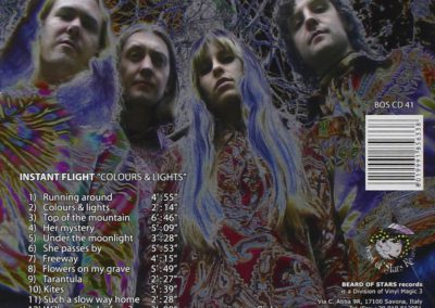 Colours and lights album by Instant Flight (back cover)