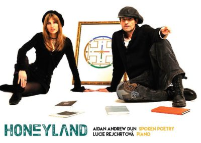 Honeyland album by LR & Aidan Andrew Dun (back cover)