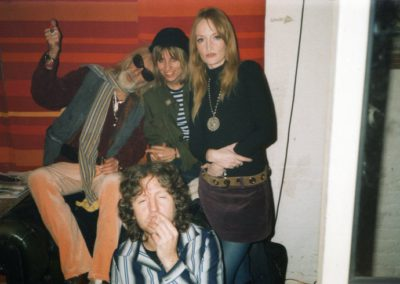 With Sky Saxon, Angie Smith and Marco Magnani, London 2006