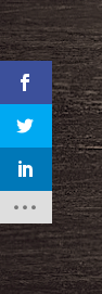 Monarch's social share icons in the sidebar