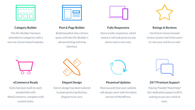 Extra by Elegant Themes - Features