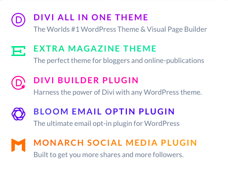 The Plugins that come with Divi