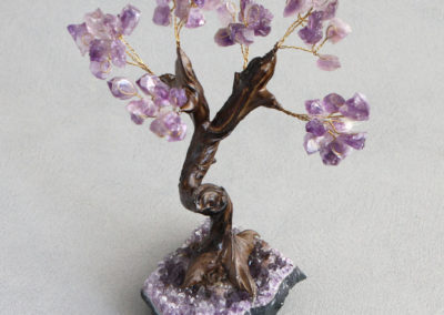 Amethyst Gemstone Bonsai Tree for Healing