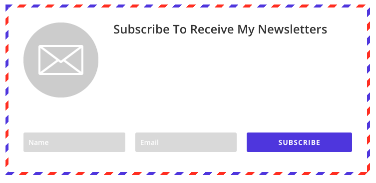 Bloom email optin - subscription form