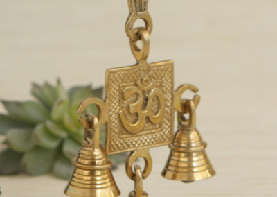 Brass Om Hanging Bells