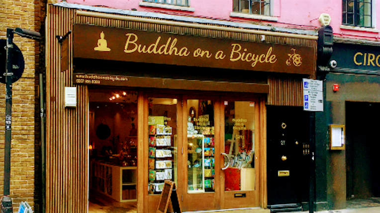 Buddha on a Bicycle, 27 Endell Street, Covent Garden, London
