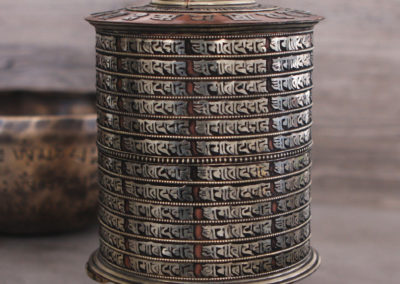 Buddhist Mantra Large Prayer Wheel
