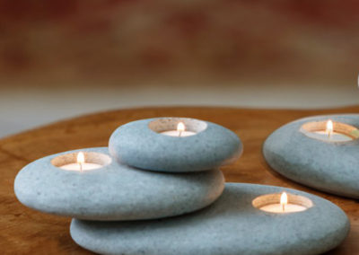 Cairn Stone Tealight Candle Holder