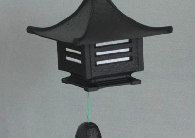 Cast Iron Zen Pagoda Wind Bell Chime