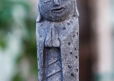 Cast Stone Garden Jizo Statue, 8 Inches