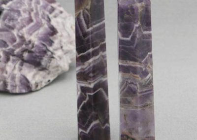 Chevron Amethyst Gemstone Point
