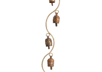 Curved Stem Wind Chime with Indian Bells