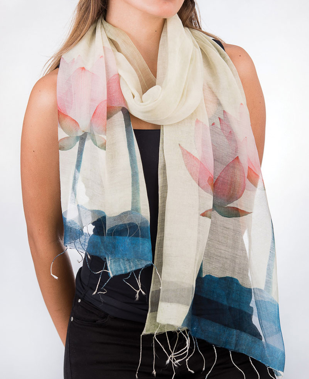 Fair Trade Sheer Lotus Scarf