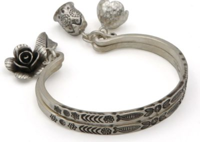 Flowers and Fish Premium Hill Tribe Silver Bracelet