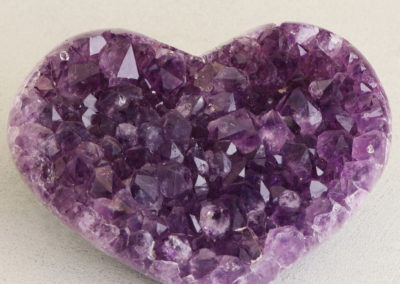 Glittering Amethyst Gemstone Heart Accents