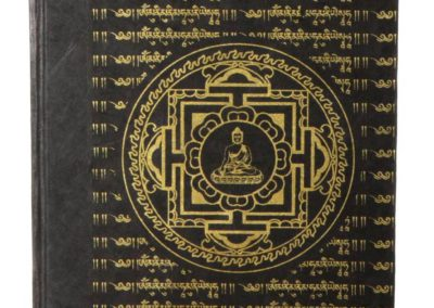 Handmade Buddha Mandala Journal in Black