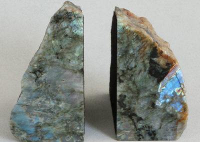 Labradorite Gemstone Bookends Set