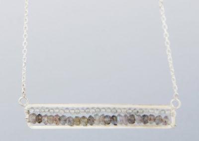 Labradorite Gemstone Geometry Necklace