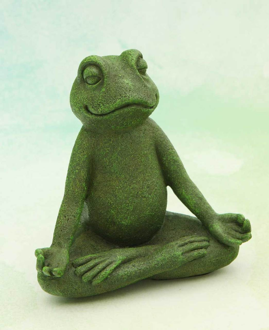 Meditating Frog Garden Statue, 6 Inches
