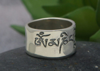 Men's Sterling Silver Engraved Mantra Ring