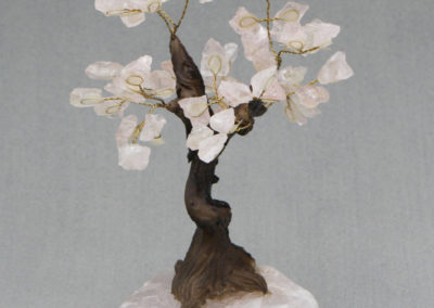 Rose Quartz Gemstone Bonsai Tree