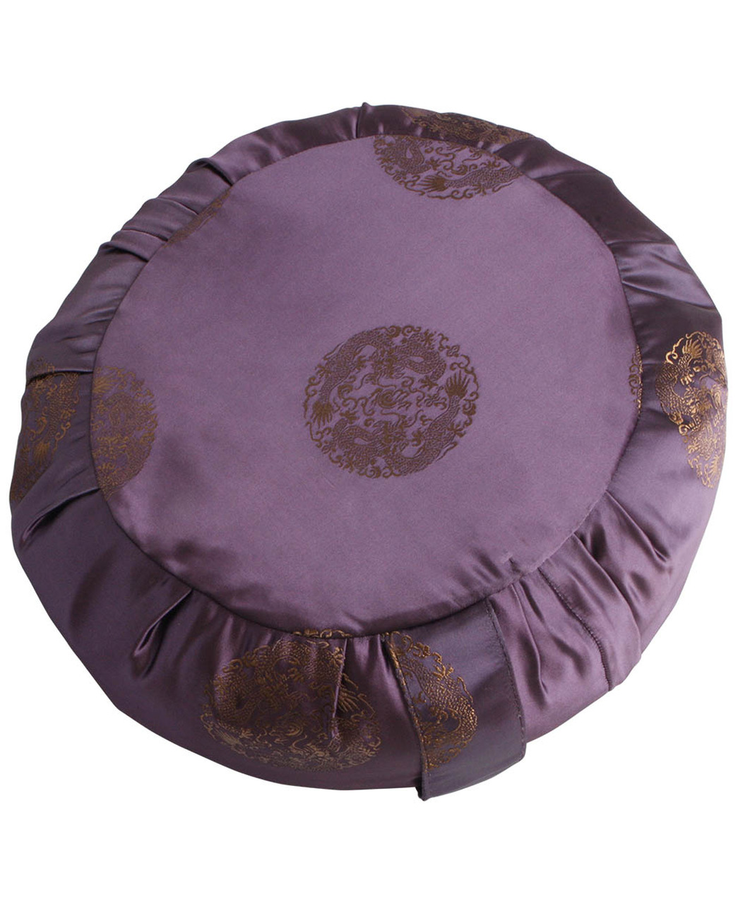 Satin Zafu Cushion with Dragon Design