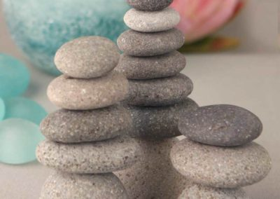 Set of 3 Miniature Stone Zen Cairn Natural Rock Sculptures