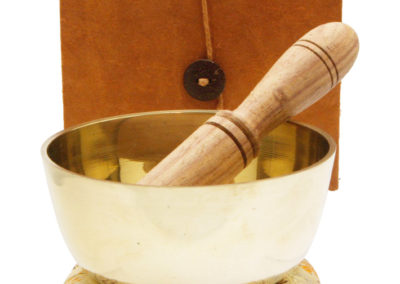 Singing Bowl Gift Set with Embossed Buddhas