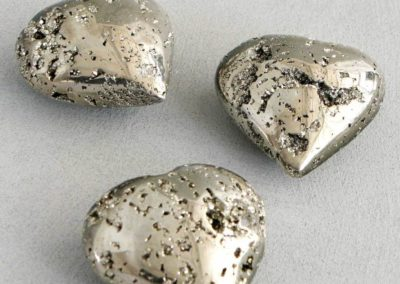 Solid Pyrite Gemstone Heart Accent
