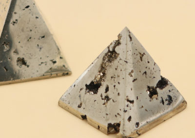 Sparkling Pyrite Gemstone Pyramid