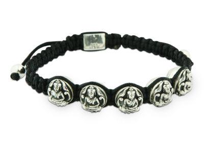 Sterling Silver Buddha Beads Bracelet