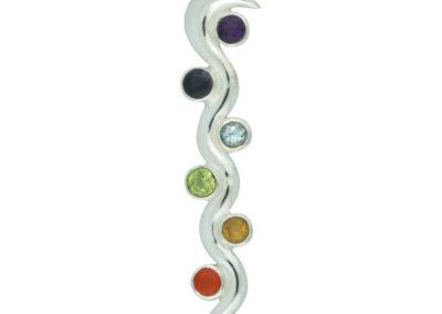Sterling Silver Kundalini Chakra Pendant
