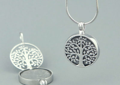 Sterling Silver Tree of Life Locket Pendant