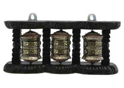 Three-in-One Hanging Brass Prayer Wheel