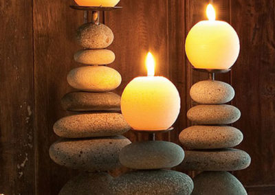 Zen Cairn Candleholders, Multiple Sizes