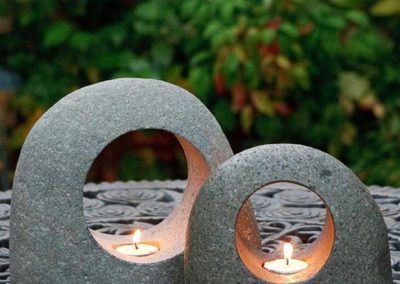 Zen-Inspired Stone Moon Tealight Holders