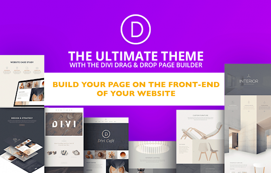front-end design with Divi