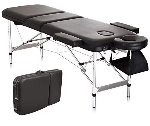 massage table with stainless steel legs