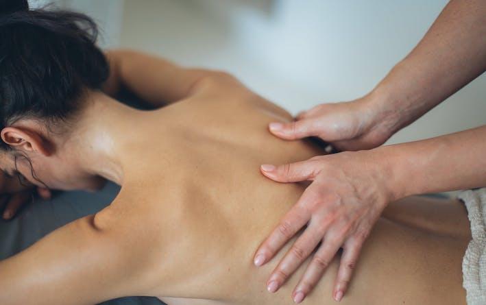 getting a back massage