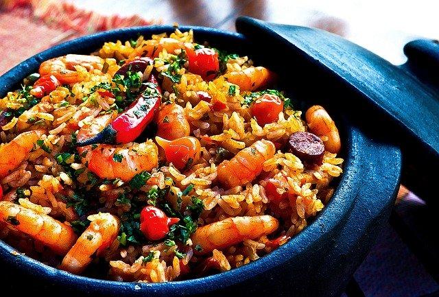 shrimp risotto dish