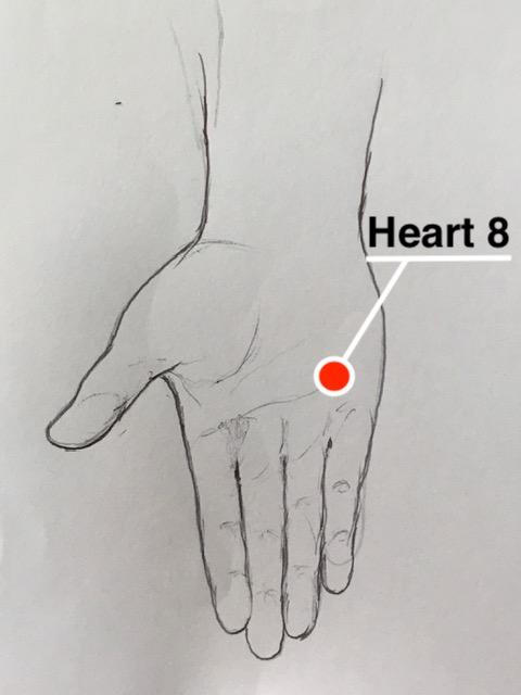 Heart 8 acupressure point