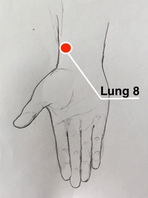 Lung 8 acupressure point
