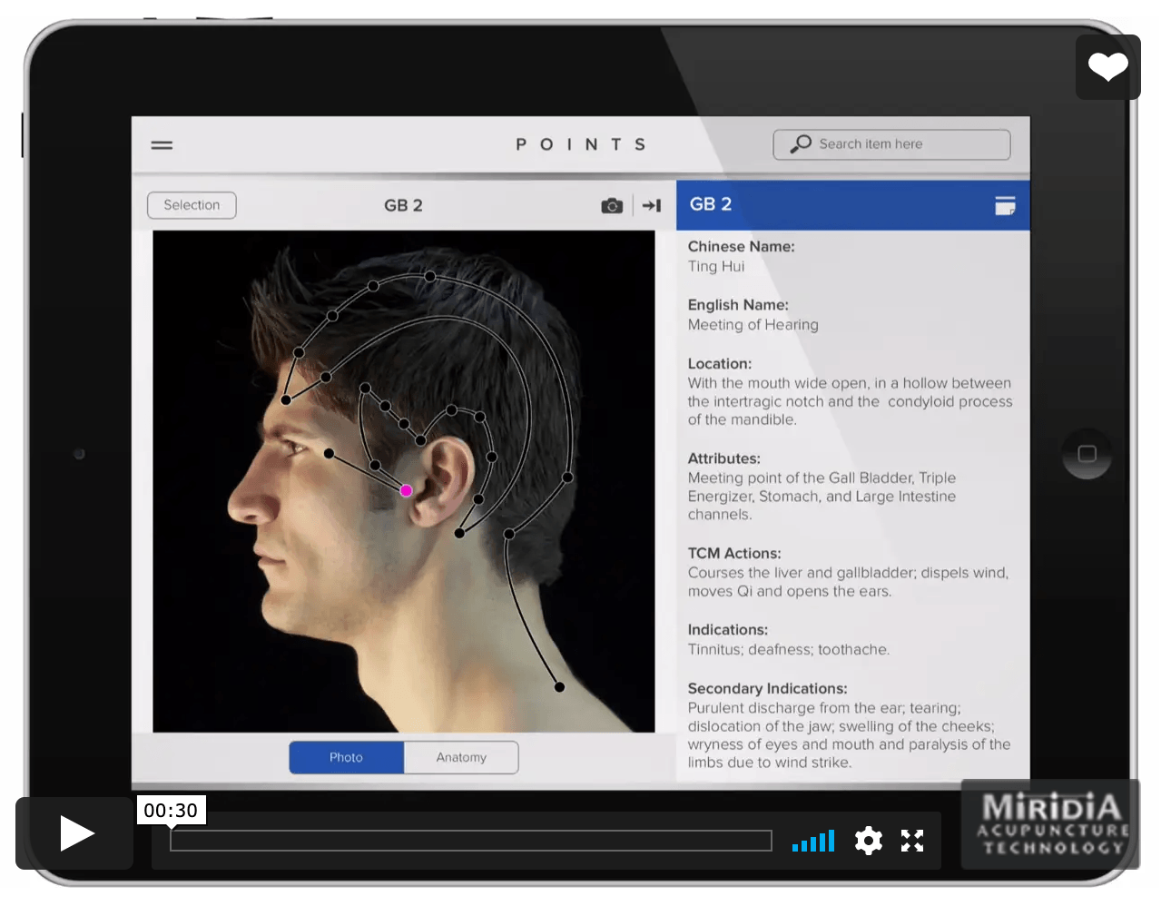 points - interactive acupuncture software