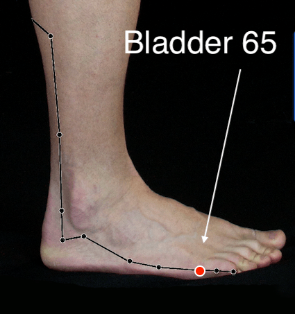 Bladder 65 acupressure point