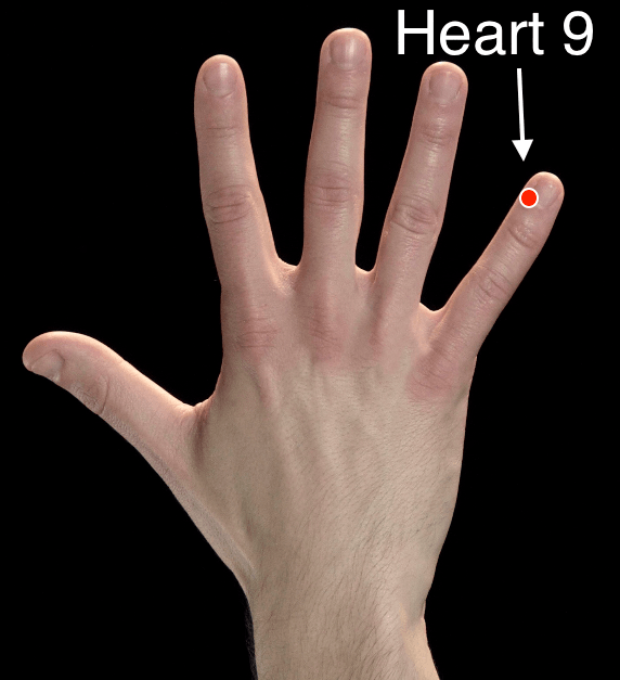 Heart 9 acupressure point