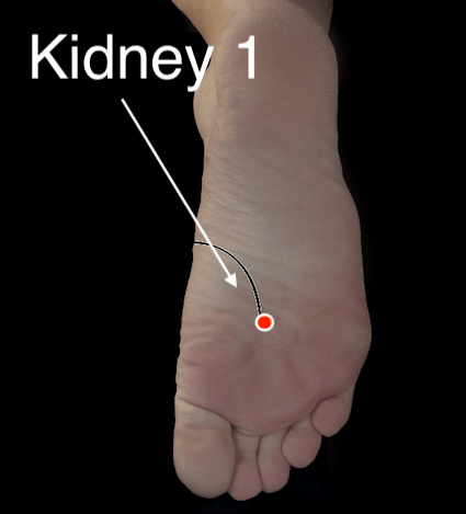 Kidney 1 Acupressure Point
