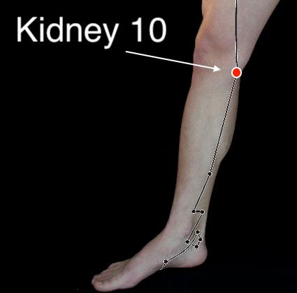 Kidney 10 acupressure point